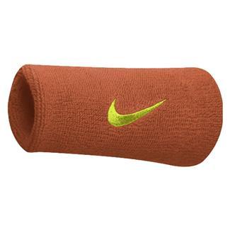 NIKE Swoosh Doublewide Wristband (2 pack) Team Orange / Volt