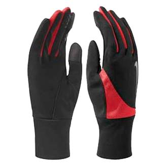 NIKE Dri-FIT Tailwind Run Gloves Black / Action / Red / Silver