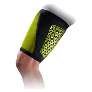 NIKE Pro Combat Hyperstrong Thigh Sleeve Black / Volt