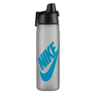 NIKE Core Hydro Flow Futura Water Bottle Wolf Gray / Blue Lagoon