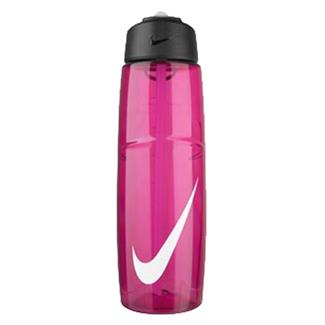 NIKE T1 Flow Swoosh 32 oz. Water Bottle Vivid Pink / White