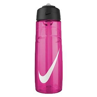 NIKE T1 Flow Swoosh 24 oz. Water Bottle Vivid Pink / White
