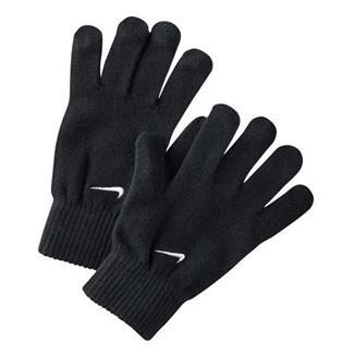 NIKE Knitted Gloves Black / White