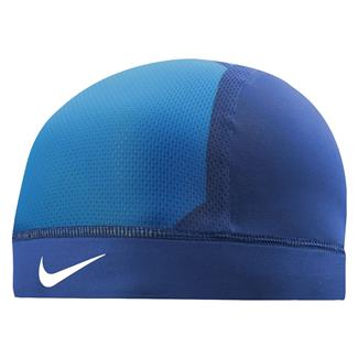 NIKE Pro Combat Hypercool Vapor Skull Cap 3.0 Game Royal / Photo Blue / White