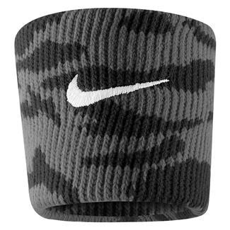 NIKE Dri-FIT Camo Wristband (2 pack) Black / Tumbled Gray / White
