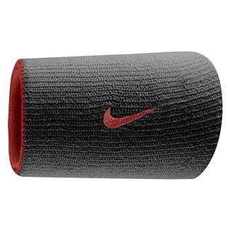 NIKE Dri-FIT Home & Away Doublewide Wristband (2 pack) Varsity Crimson / Black