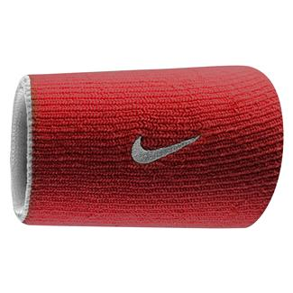 NIKE Dri-FIT Home & Away Doublewide Wristband (2 pack) Varsity Red / White