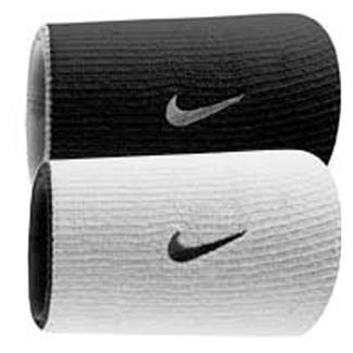 NIKE Dri-FIT Home & Away Doublewide Wristband (2 pack) White / Black