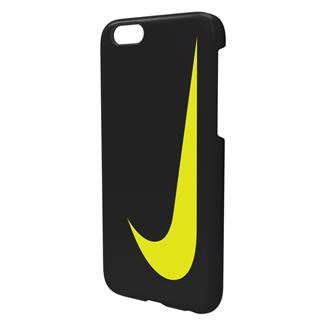 NIKE Swoosh iPhone 6 Hard Case Black / Volt