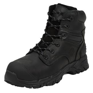 "Justin Original Work Boots 6"" WorkTek Sabre Round Toe CT WP Carbon Black"
