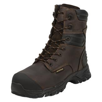 "Justin Original Work Boots 8"" WorkTek Sabre Round Toe 600G CT WP Brawny Brown"