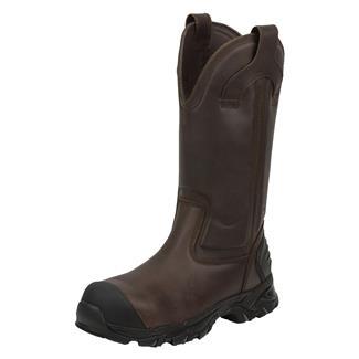 "Justin Original Work Boots 13"" WorkTek Sabre Round Toe CT WP Brawny Brown"