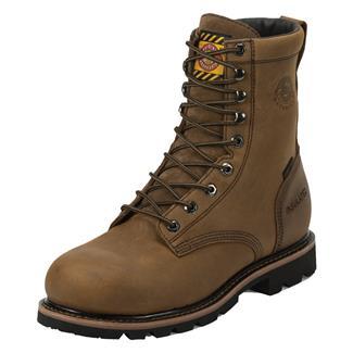 "Justin Original Work Boots 8"" Worker II Round Toe 600G CT WP Wyoming Peanut"
