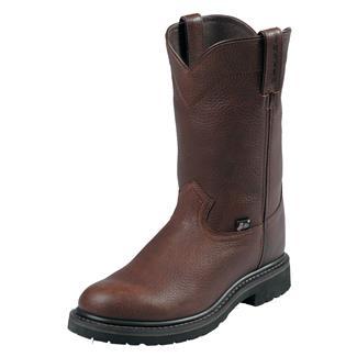 "Justin Original Work Boots 10"" Worker II Round Toe ST Brown Trapper"