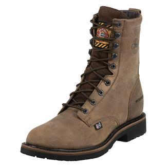 "Justin Original Work Boots 8"" Worker II Round Toe ST WP Wyoming Peanut"