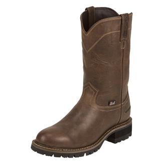 "Justin Original Work Boots 10"" Worker II Round Toe CT WP Rugged Tan"