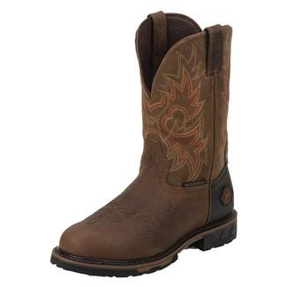 "Justin Original Work Boots 11"" Hybred Round Toe WP Rustic Barnwood"