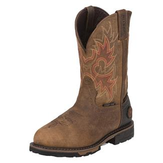 "Justin Original Work Boots 11"" Hybred Round Toe CT WP Rustic Barnwood"