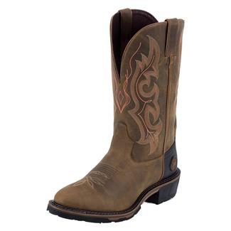 "Justin Original Work Boots 13"" Hybred Classic Western Toe TecTuff Rugged Tan Gaucho"