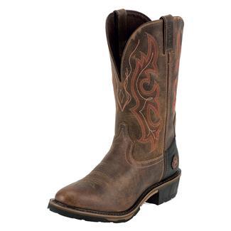 "Justin Original Work Boots 13"" Hybred Classic Western Toe TecTuff WP Rugged Utah"