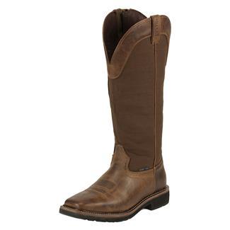 "Justin Original Work Boots 17"" Stampede Snake Boots CT SZ Rugged Tan / Brown"