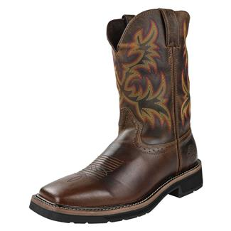 "Justin Original Work Boots 11"" Stampede Square Toe Rugged Tan"