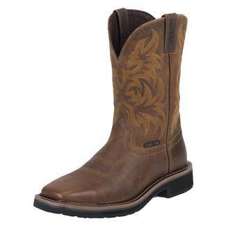 "Justin Original Work Boots 11"" Stampede Square Toe CT Tan Tail"