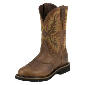 "Justin Original Work Boots 11"" Stampede Round Toe Sunset Cowhide"