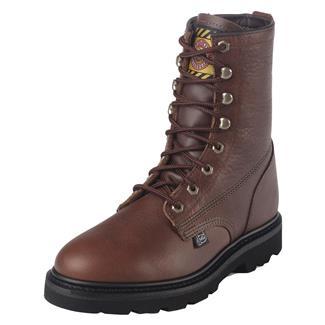 """Justin Original Work Boots 8"""" Premium & Light Duty Round Toe Tan Premium"""
