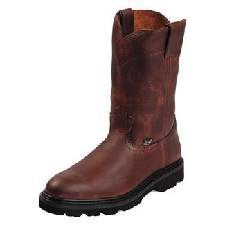 """Justin Original Work Boots 10"""" Premium & Light Duty Round Toe Tan Premium"""