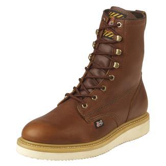 "Justin Original Work Boots 8"" Premium & Light Duty Round Toe Wedge Tan Premium"