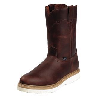 "Justin Original Work Boots 10"" Premium & Light Duty Round Toe Wedge Tan Premium"
