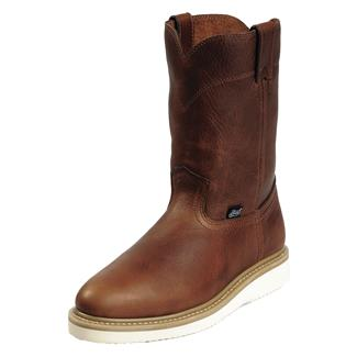 "Justin Original Work Boots 10"" Premium & Light Duty Round Toe Wedge ST Tan Premium"
