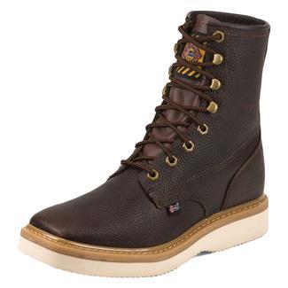"""Justin Original Work Boots 8"""" Premium & Light Duty Square Toe Wedge Tan Premium"""