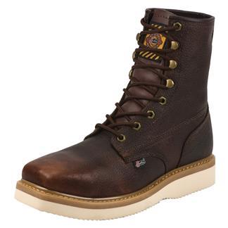 "Justin Original Work Boots 8"" Premium & Light Duty Square Toe Wedge ST Tan Premium"