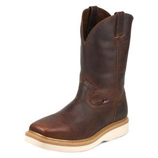 "Justin Original Work Boots 11"" Premium & Light Duty Square Toe Wedge ST Tan Premium"