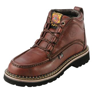 "Justin Original Work Boots 6"" Premium & Light Duty Moc Toe ST Rustic Cowhide"