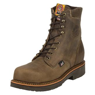 "Justin Original Work Boots 8"" J-Max Round Toe CT Tan Crazy Horse"