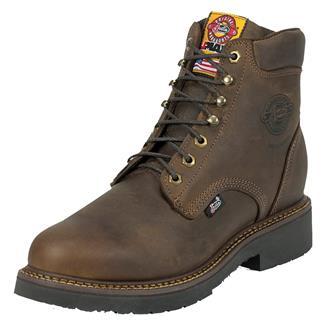 "Justin Original Work Boots 6"" J-Max Round Toe Rugged Bay Gaucho"