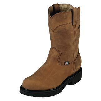 "Justin Original Work Boots 10"" Double Comfort Round Toe GTX Aged Bark"