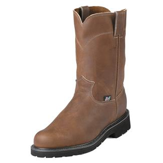 """Justin Original Work Boots 10"""" Double Comfort Round Toe ST Aged Bark"""