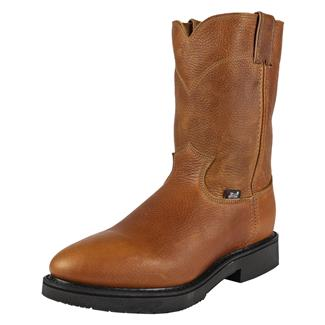 "Justin Original Work Boots 10"" Double Comfort Medium Round Toe Copper Caprice"