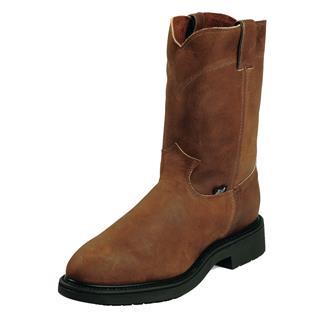 "Justin Original Work Boots 10"" Double Comfort Medium Round Toe ST Aged Bark"