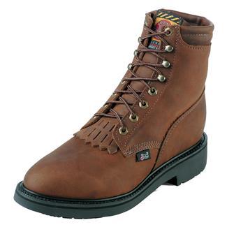 "Justin Original Work Boots 6"" Double Comfort Medium Round Toe Aged Bark"