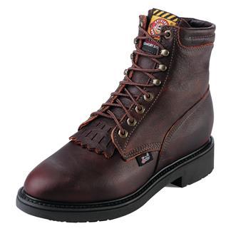 "Justin Original Work Boots 6"" Double Comfort Medium Round Toe Briar Pitstop"