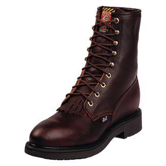 "Justin Original Work Boots 8"" Double Comfort Medium Round Toe ST Briar Pitstop"