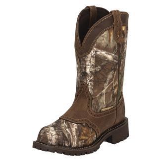 "Justin Original Work Boots 11"" Gypsy Round Toe Lug Sole ST WP Realtree Xtra / Aged Bark"