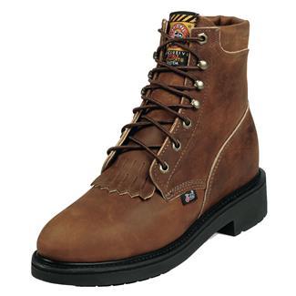 "Justin Original Work Boots 6"" Double Comfort Medium Round Toe ST Aged Bark"