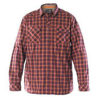 5.11 Long Sleeve Flannel Shirt Ox Blood