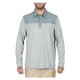 5.11 Long Sleeve Rapid Response Polo Silver Pine